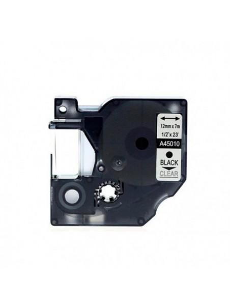 DYMO D1 45010 Ruban Générique NOIR / TRANSPARENT
