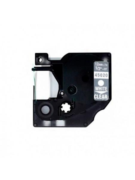 DYMO D1 45020 Ruban Générique BLANC/ TRANSPARENT