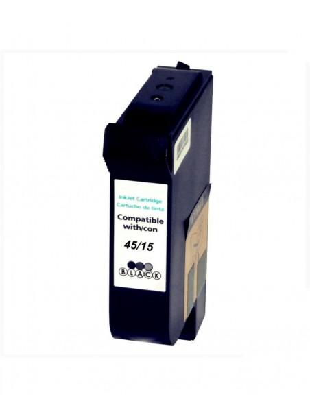 Cartouche d'encre pigmentée 45/15 compatible pour HP