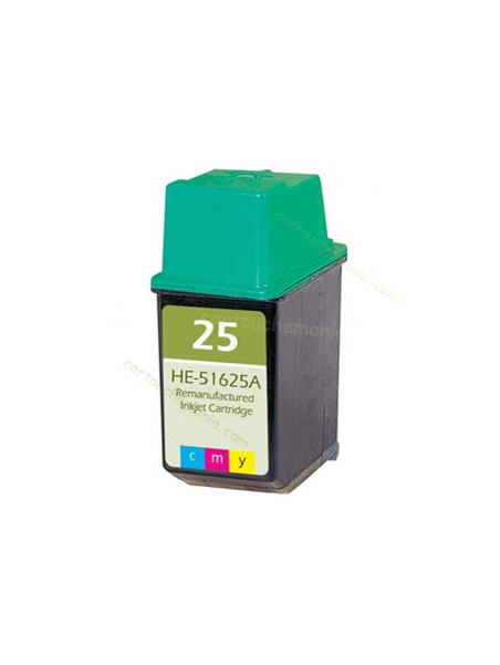 Cartouche d'encre 25 tricolor remanufacturée pour HP