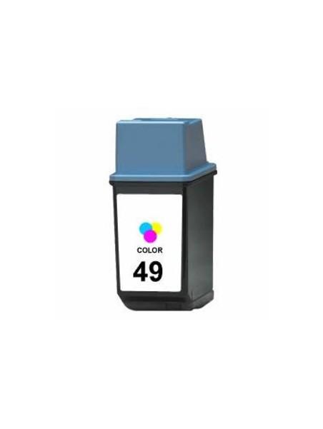 Cartouche d'encre 49 tricolor remanufacturée pour HP